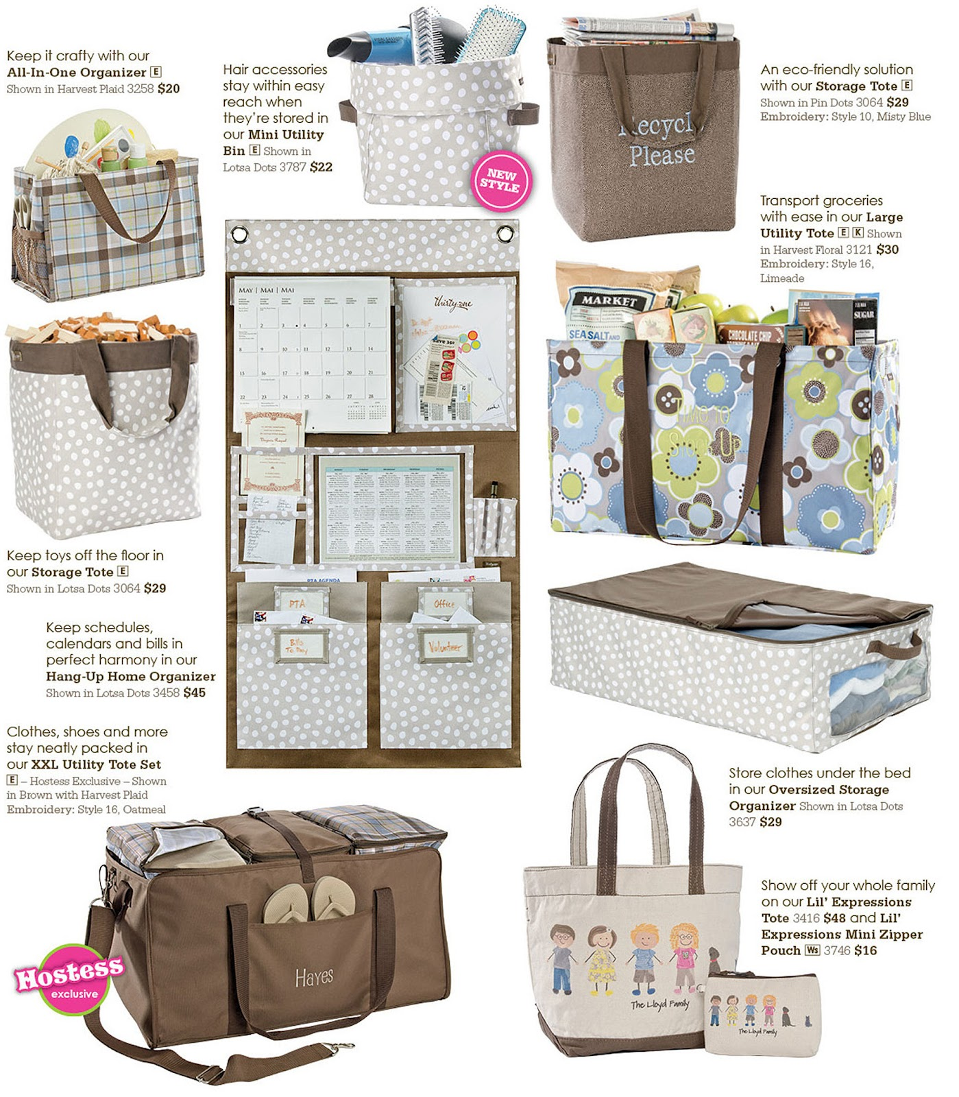 cutsie bags for your picnic organizers for you wall containers for toys thermal totes to keep things cold on the way home from the storeu2026the list goes on ...  sc 1 st  Jamie Cooks It Up & Thirty One Gifts Giveaway/Review