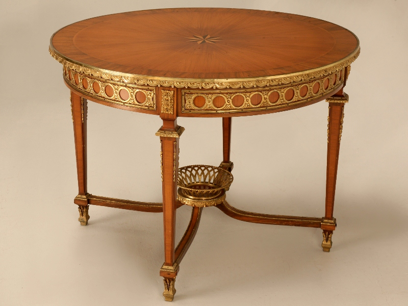Antique french furniture antique center hall table in for Table in spanish