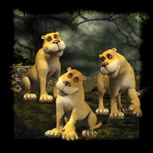 Mgtcs Cute Lionesses High Quality PNG files