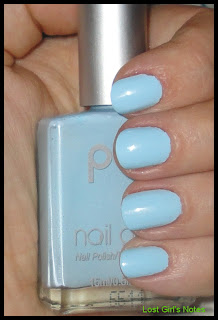 POP nail glam baby blue swatches and review