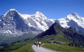 Einger mountain in the Alps