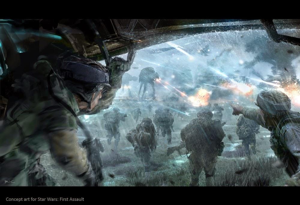 Rebel troops drop off into combat