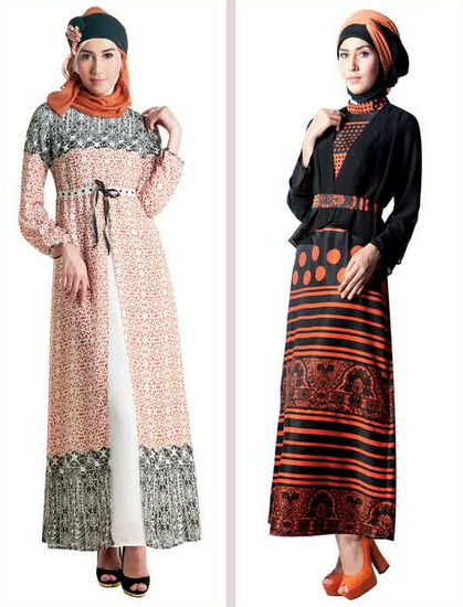 Contoh Trend Fashion Modern Baju Muslim Gamis Model