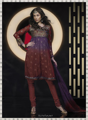 Anarkali Umbrella Frock Dress With Churidar Pajama