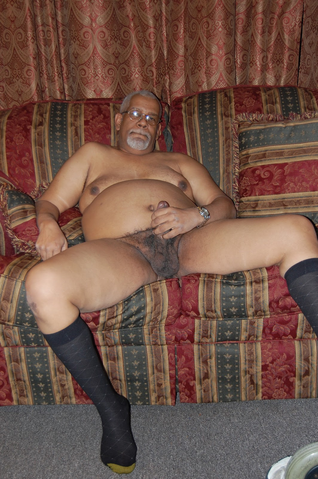 Black grandpa naked