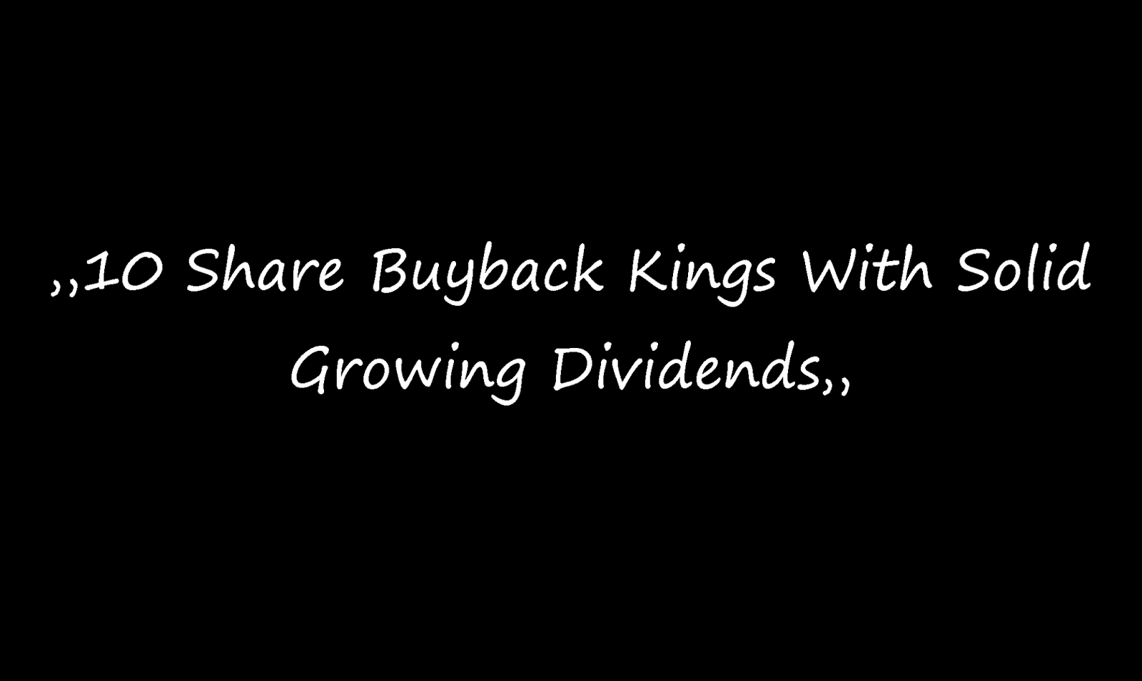 Orcl Stock Quote 10 Share Buyback Kings With Solid Growing Dividends  Smarter Analyst