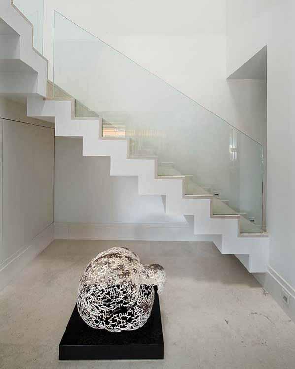 desain rumah, ide desain tangga, desain rumah lantai 2