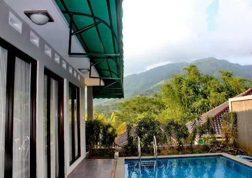 Private Pool River Hills Resort Puncak
