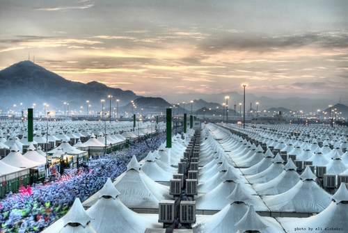 An empty air conditioned tent city in Saudi Arabia that could house millions of refugees. & The Federalist: