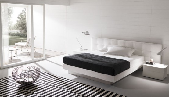 Dise o de dormitorios y camas decorar tu habitaci n - Dormitorios de matrimonio de diseno italiano ...