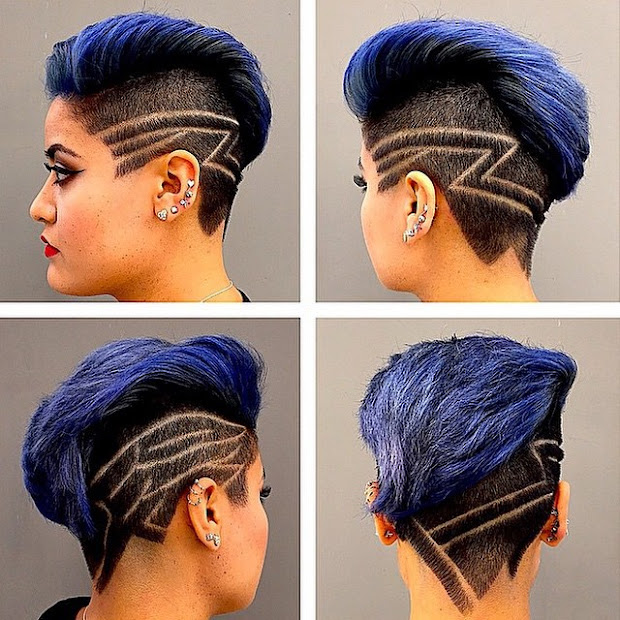 stylish hair tattoos girls