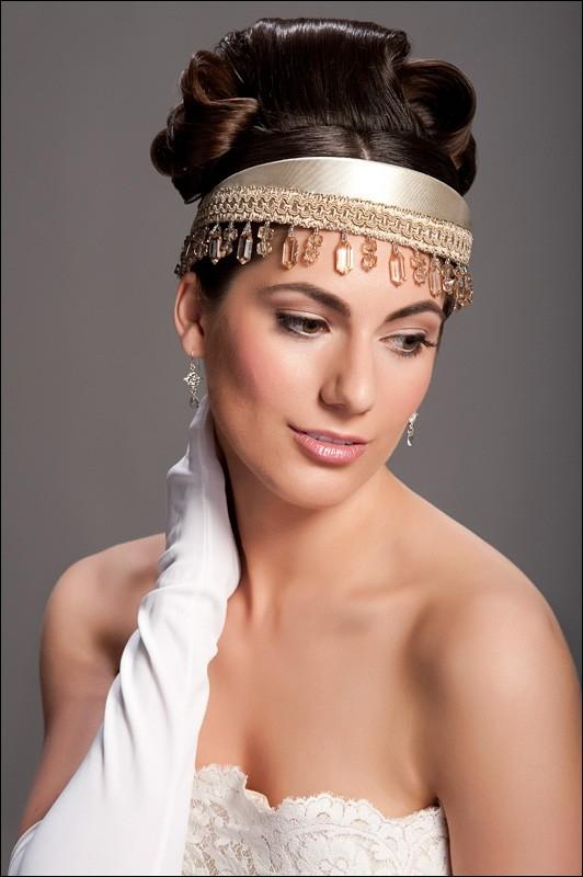 bridal headbands hairstyles