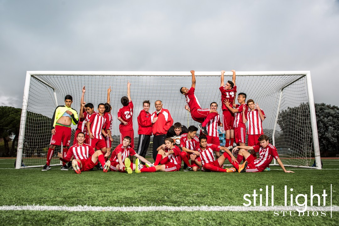 San Mateo Hillsdale High School Soccer Team Photo by Still Light Studios, School Sports Photography and Senior Portrait in Bay Area, cinematic, nature