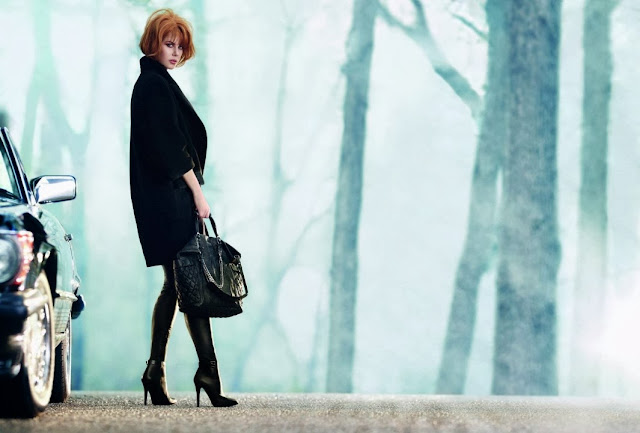 Jimmy Choo : Tamba Thigh High Boots With Stretch Nappa And Slender Strap W 2013 - Model : Nicole Kidman