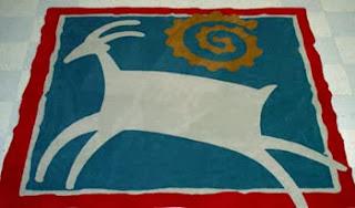 Carpete colorido artístico
