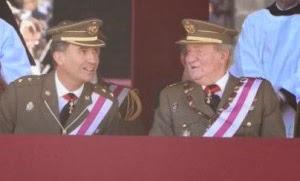 Juan Carlos y Felipe acto tras abdicar