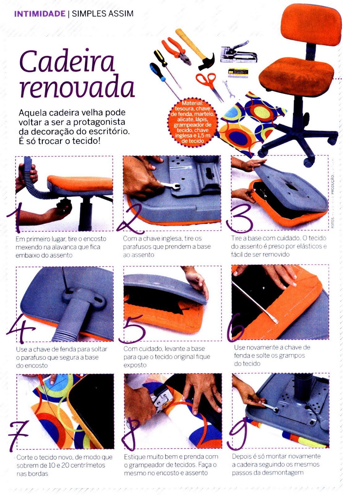 Super Dicas: Reformando a cadeira do escritório! #BE310D 1109x1600