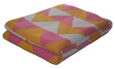 happy habitat modern pattern cotton eco blanket