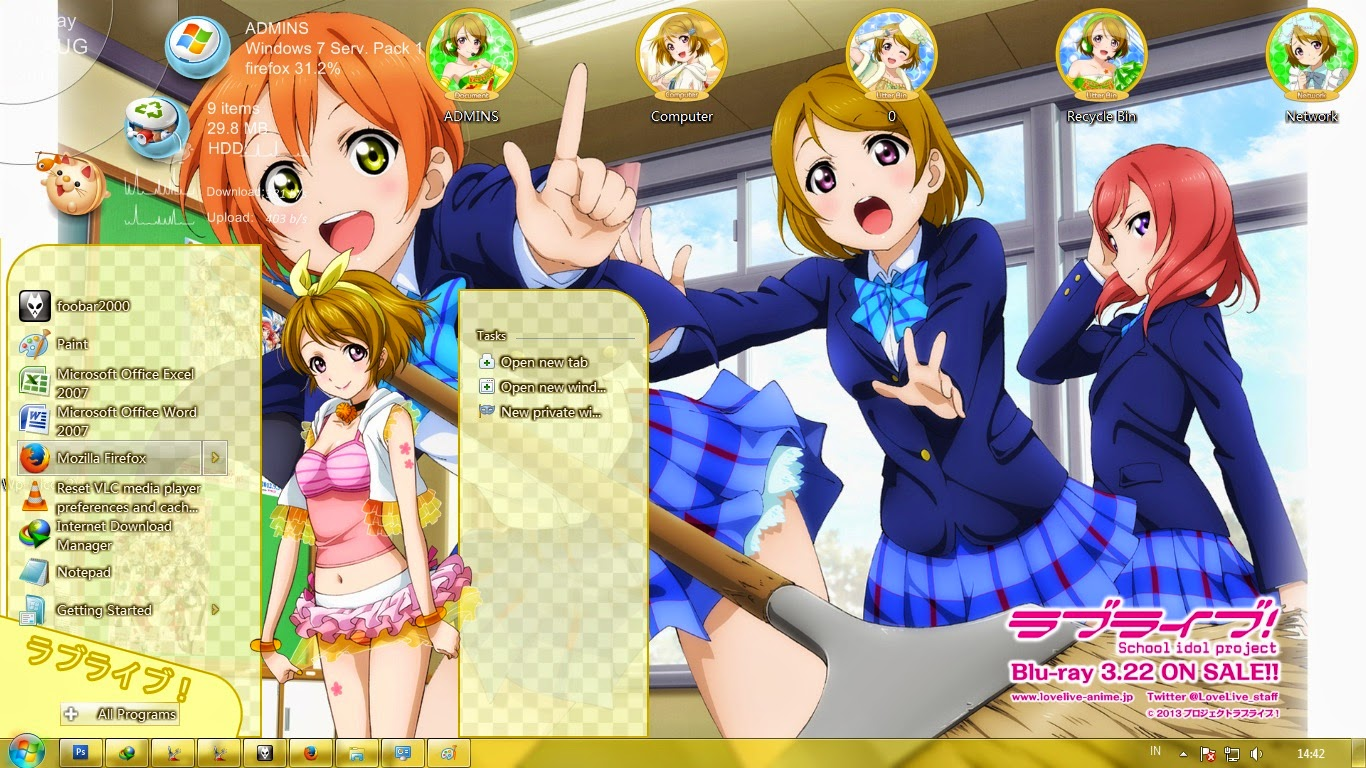 theme win 7 love live school idol project koizumi hanayo by