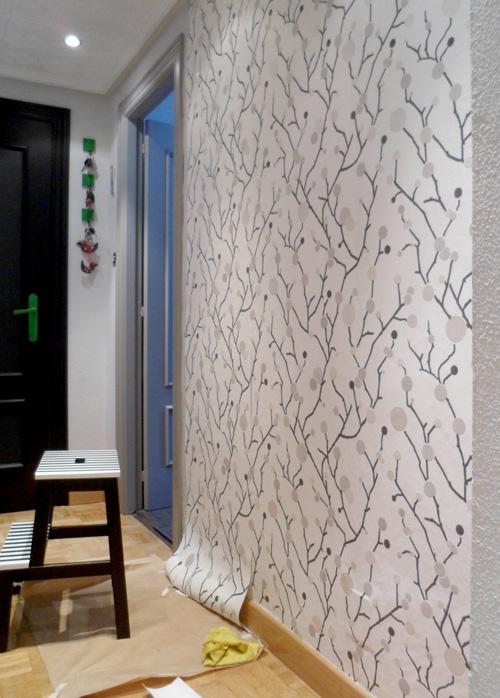 Lalole blog operaci n makeover n 4 papel pintado en la - La casa del papel pintado ...