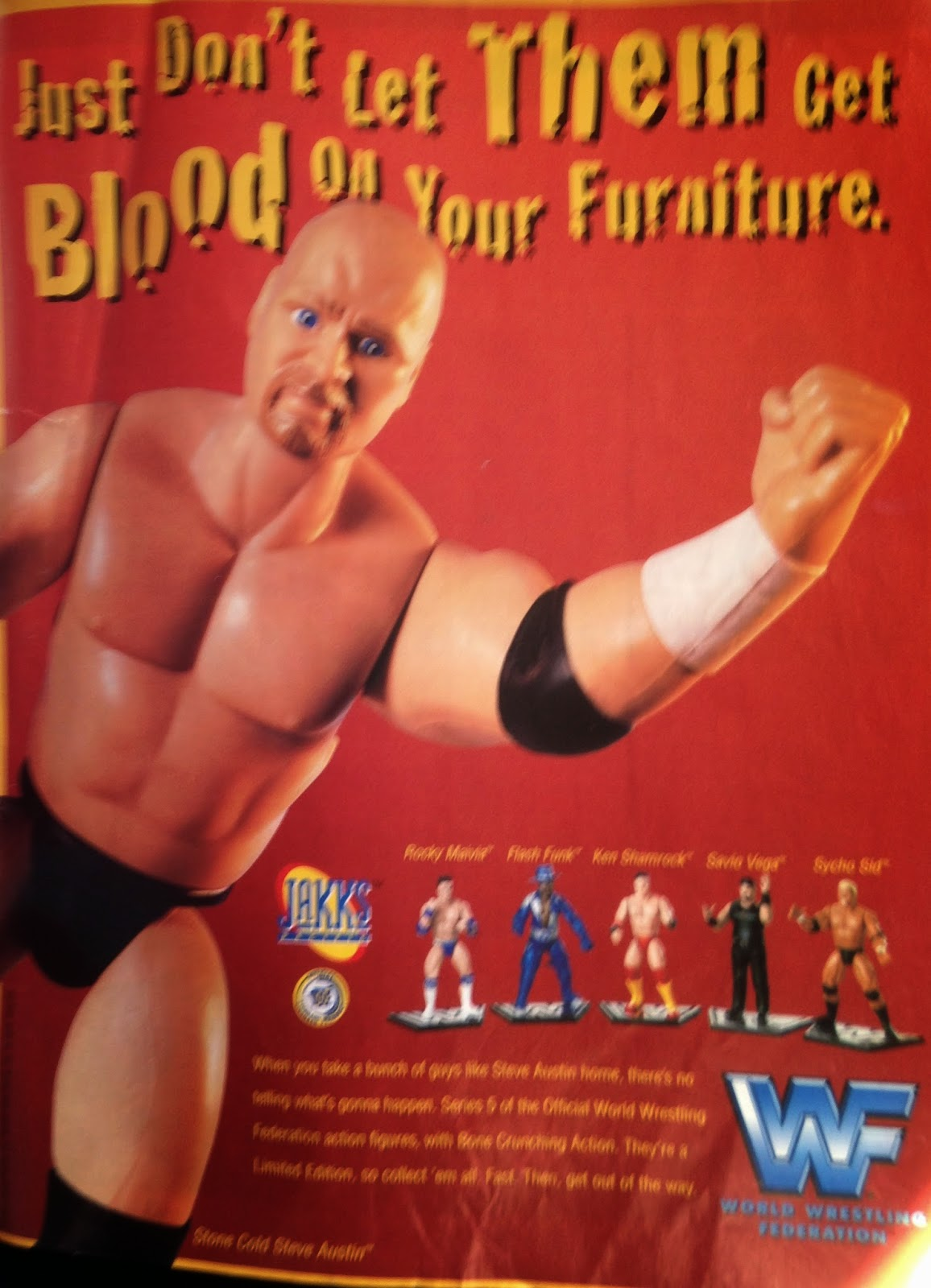 WWF MAGAZINE - JANUARY 1998 - Jakks Series 5 Wrestling Figures Advertisement