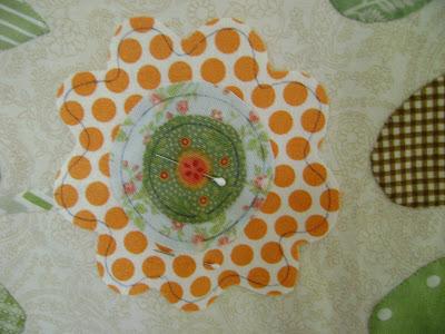 Auntie Green's Garden quilt