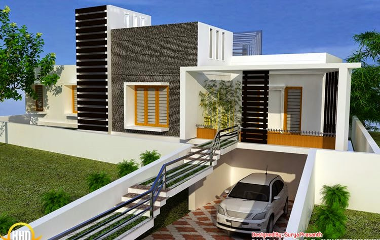 Desain Rumah Mewah 1 Lantai Bergaya Modern Model