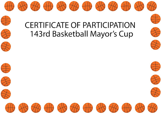 Basketball Free Vector art, Basketball Tournament Certificates