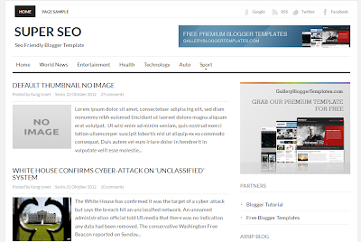 Super Seo Blogger Template - White and Clean