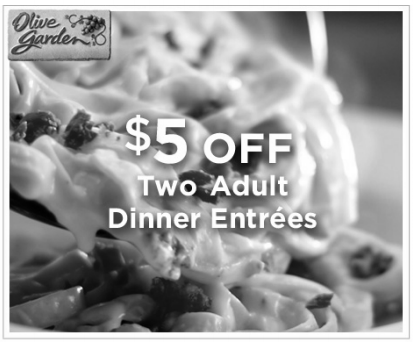 Frugal Fort Wayne Olive Garden 5 Off Two Entrees Printable Coupon