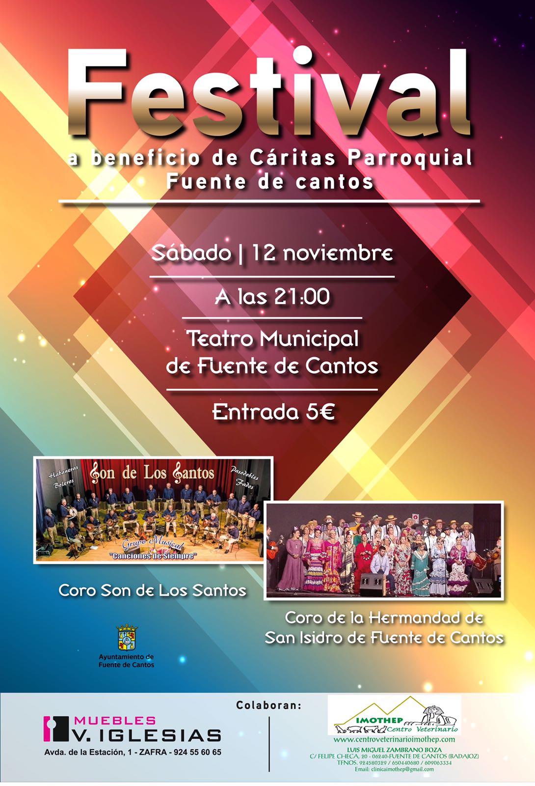 ÚLTIMAS NOTICIAS: Concierto en el Teatro de Fuente de Cantos el 12 de noviembre de 2016