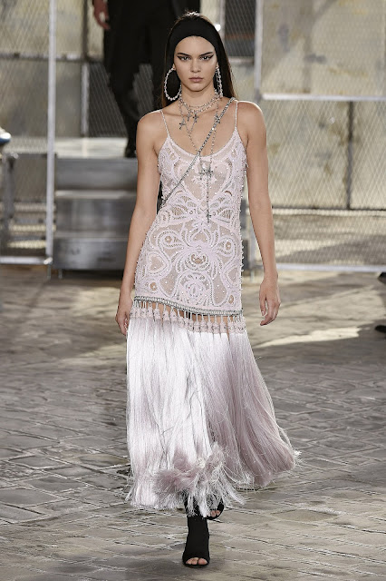 Model, Television personality @ Kendall Jenner - See Thru Dress @ Givenchy Fashion Show, Paris