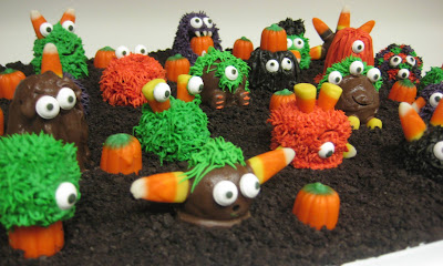 Halloween Little Monster Cake Balls - Angled View 2