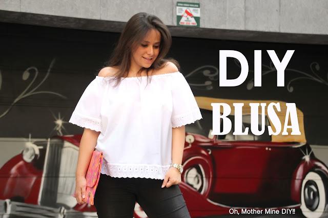 DIY Ropa premama blusa sin hombros patrones gratis. Blog costura y blog diy