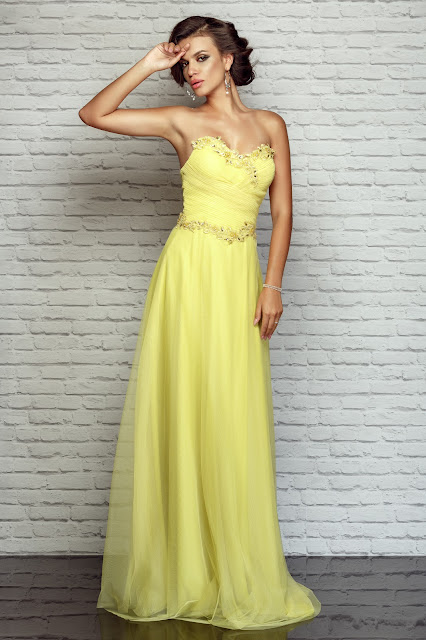 Rochie lunga galben pal pentru nunta
