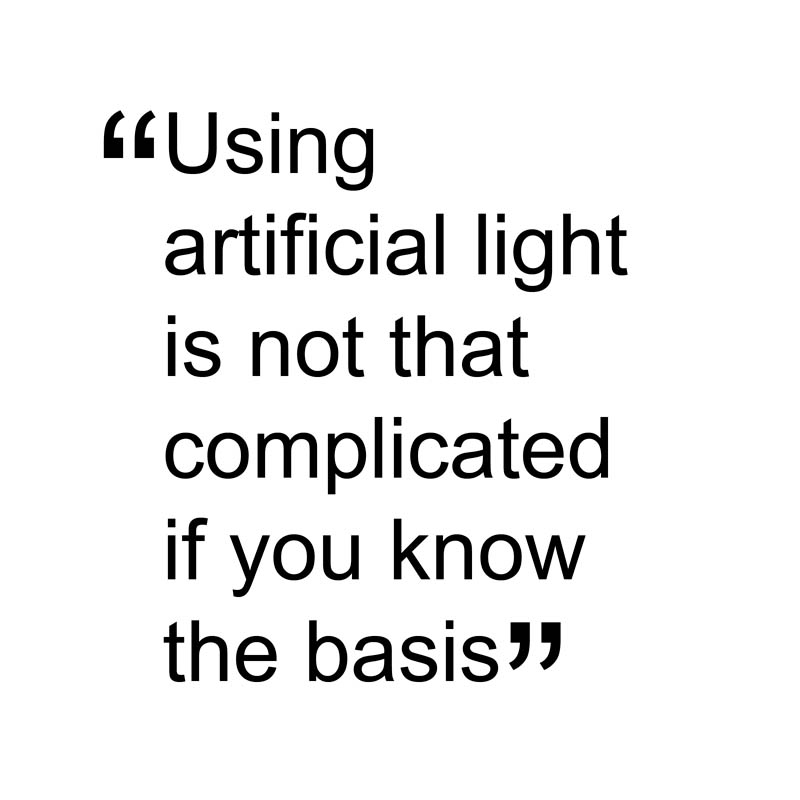 unlike natural light artificial light can be controlled to our discretion in every way direction intensity angle colour when in a studio artificial lighting set