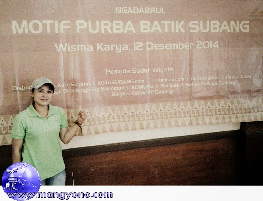 NGADABRUL MOTIF PURBA BATIK SUBANG. Foto dari Facebook Bu Yuli Merdekawati Lurah Cigadung, Subang.