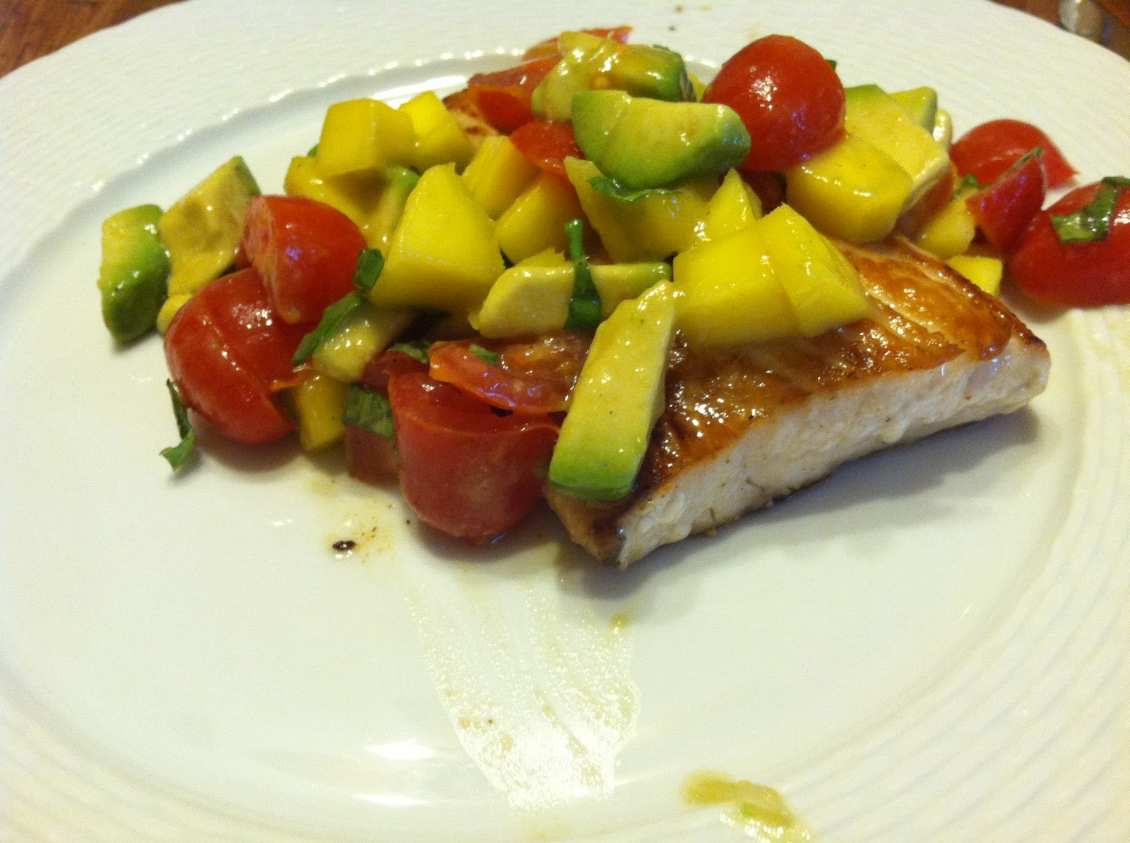 Gwyneth Paltrow's Grilled Halibut With Mango-Avocado Salsa Recipe ...