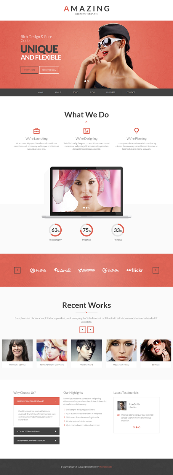 Best Onepage or Multipage WordPress Theme