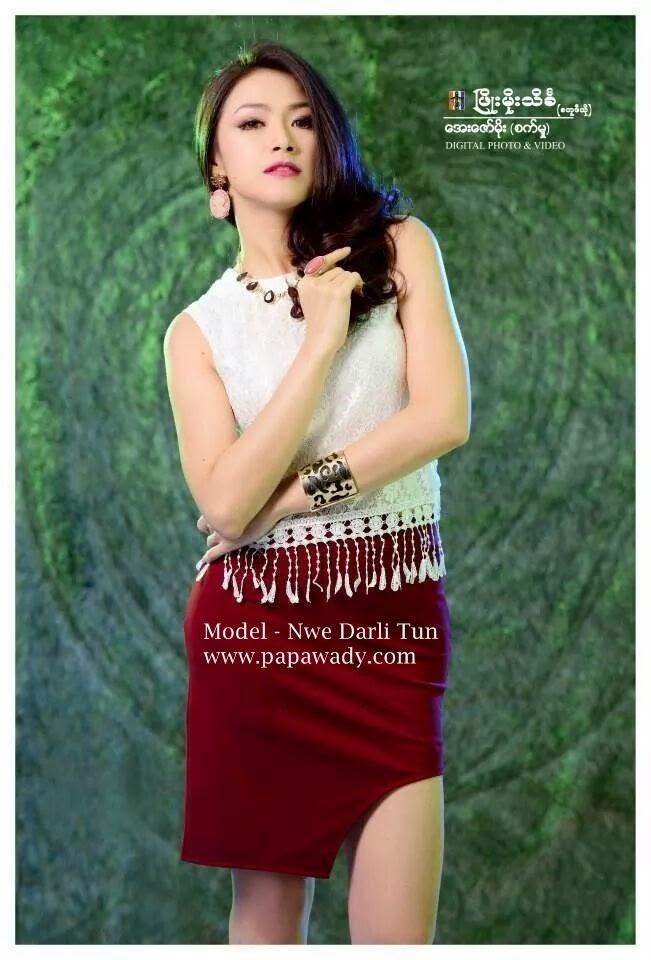 Nwe Darli Tun - Beautiful Colorful Studio Photoshoot