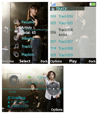 韓國組合Brown Eyed Girls SonyEricsson手機主題for Elm/Hazel/Yari/W20﹝240x320﹞