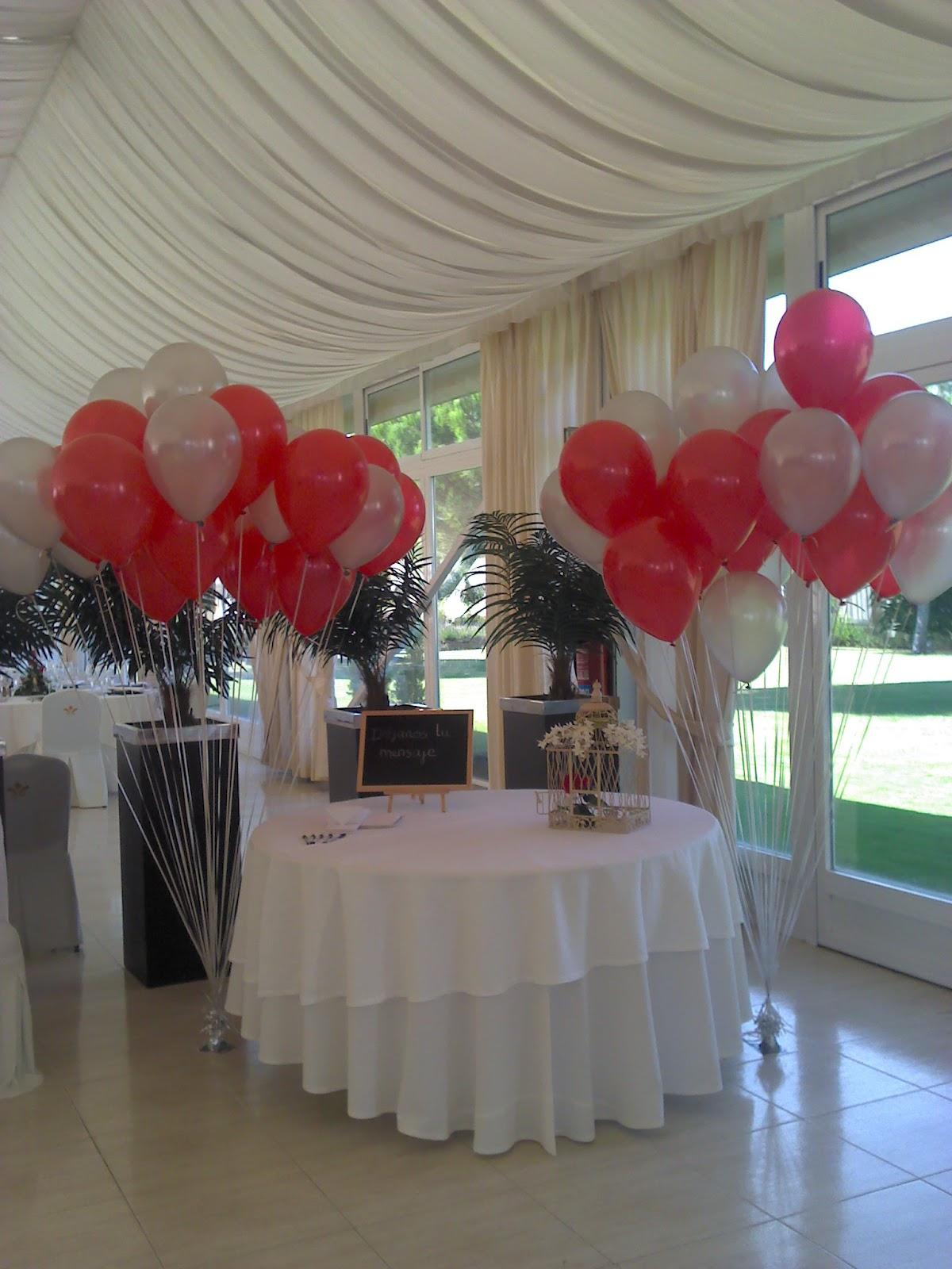 Lanas y barro decoraci n arboles de globos boda for Decoracion con globos bodas