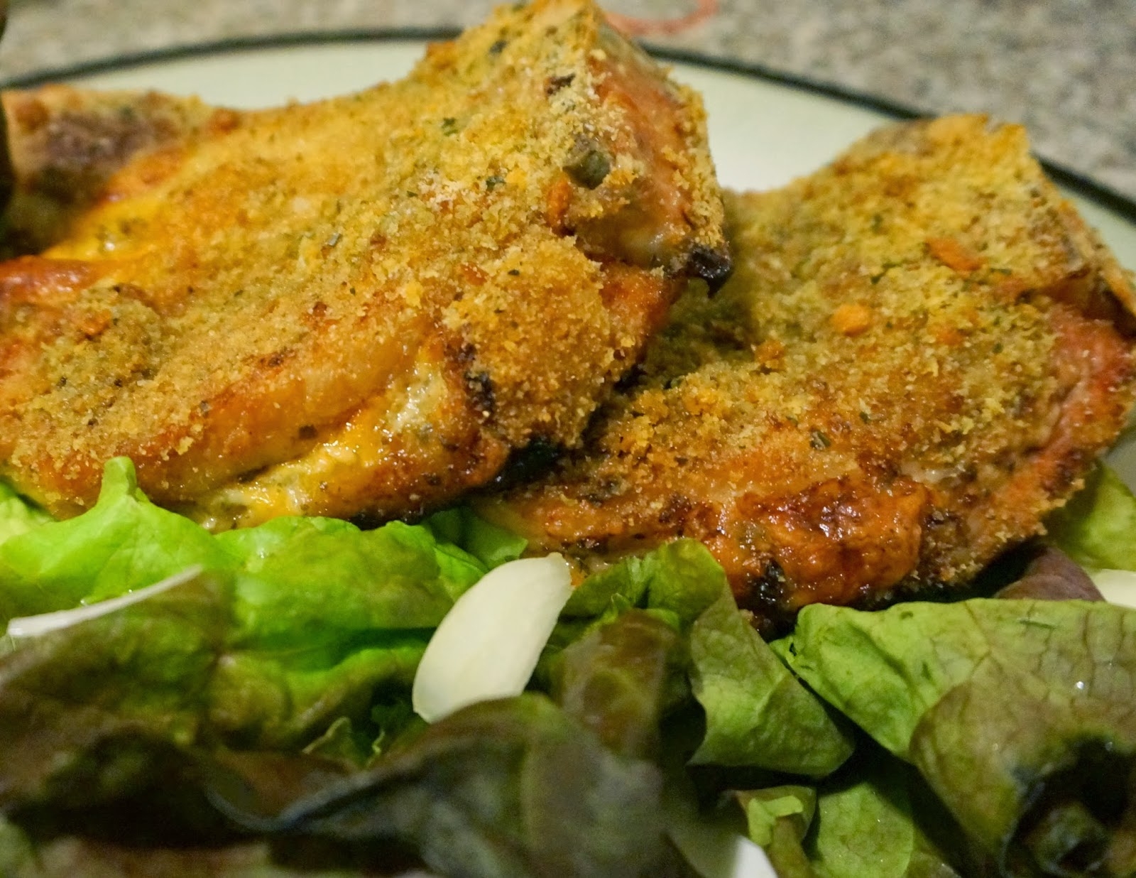 Pesto and Cheese Stuffed Pork Chops: Easy Healthy Low Carb Meal ...