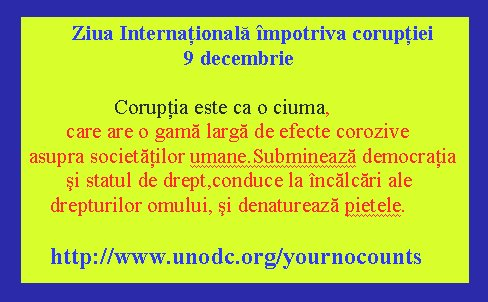 Ziua internationala impotriva coruptiei