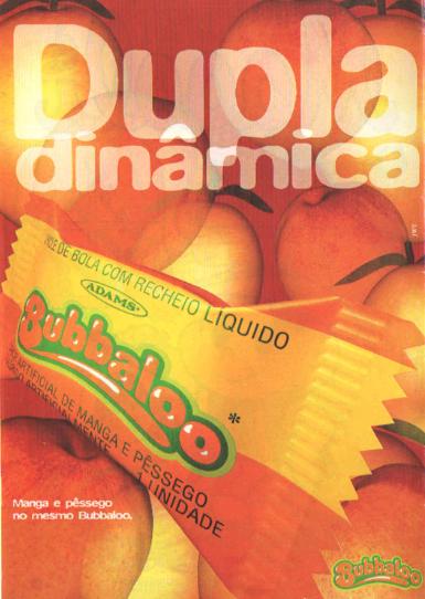 Propaganda do Bubbaloo Manga e Pêssego - 1995