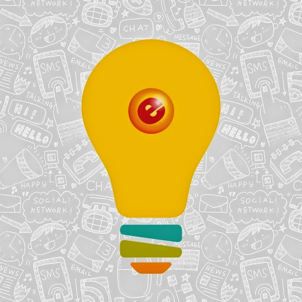 A yellow light-bulb with the eGumball, Inc. logo on it with a grey background