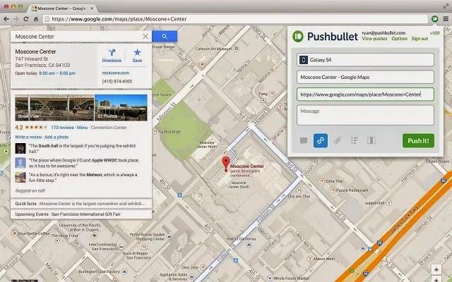 pushbullet chrome app