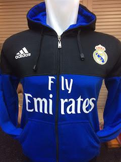 gambar desain terbaru jaket hoodie klub musim depan desain dan gambar photo foto kamera Jaket hoodie Real Madrid warna biru hitam terbaru musim 2015/2016 di enkosa sport toko online terpercaya lokasi di jakarta pasar tanah abang