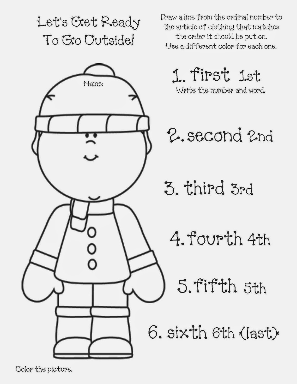 Classroom Freebies This Is How We Get Ready Ordinal Numbers packet – Ordinal Numbers Kindergarten Worksheets