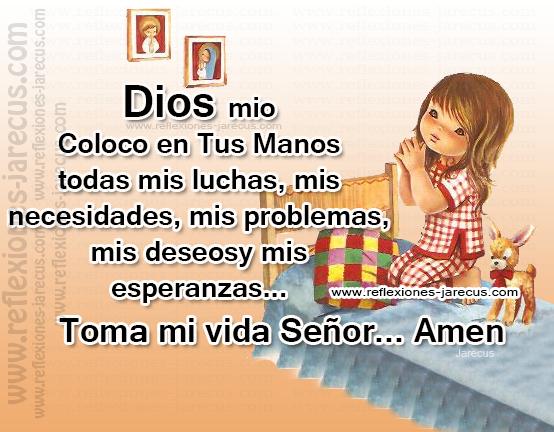 Oración a Dios nuestro señor,